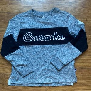 Size 6 sweater Canada black and grey long sleeve